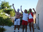 The 3 winners of the Lagolio-Kokinos Pirgos-Lagolio run
