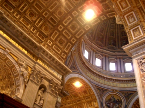 Ceiling of the San Pietro